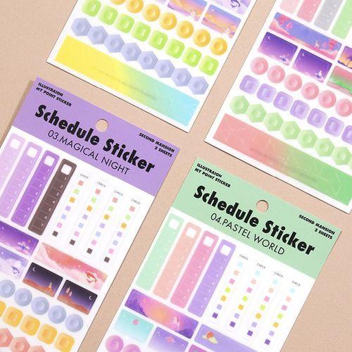 Schedule Deco Sticker Set