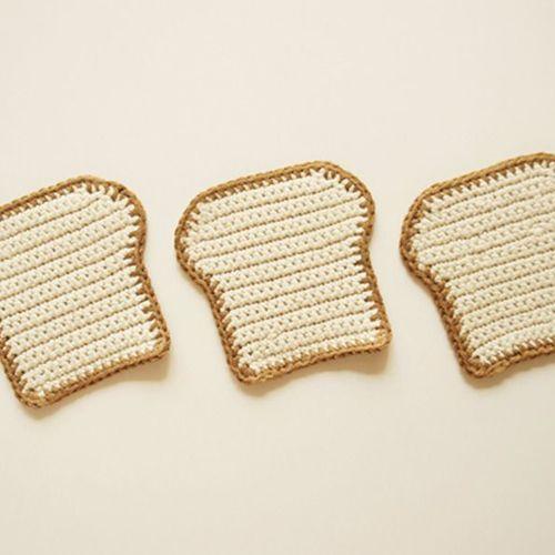 Egg & Bread Handmade Coaster Set