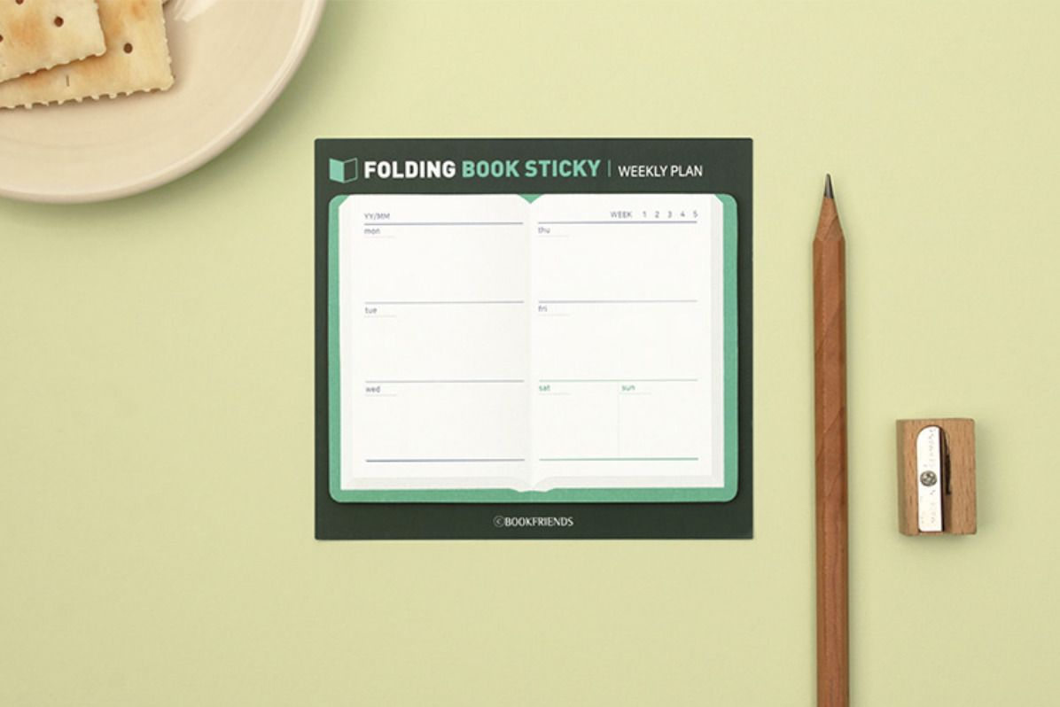 Foldable Book Sticky Note