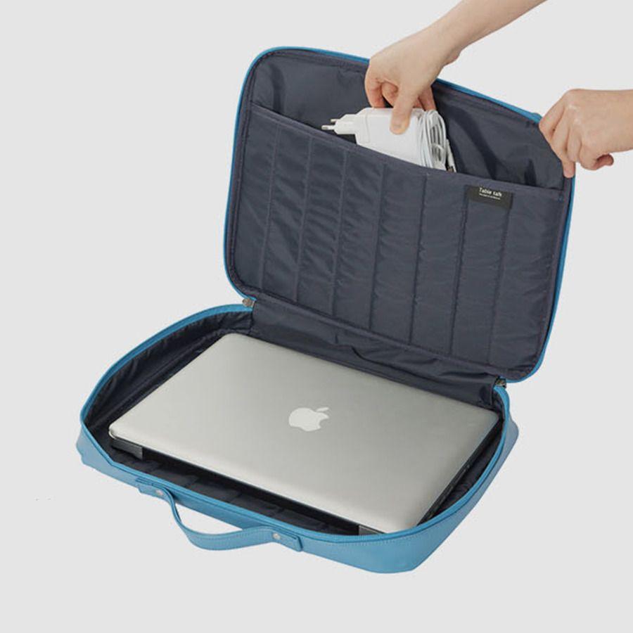 Table Talk Leather Laptop Shoulder Bag