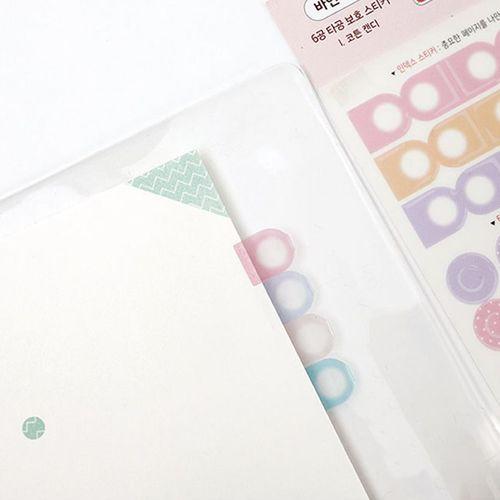 6 Ring Planning Deco Sticker Set