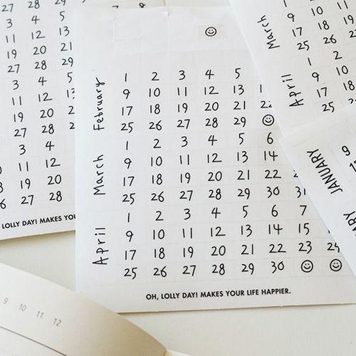 Oh, Calendar Sticker Set