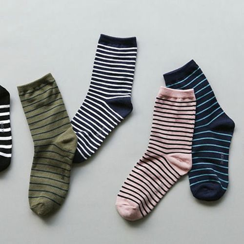 Stripe Pattern Women Socks