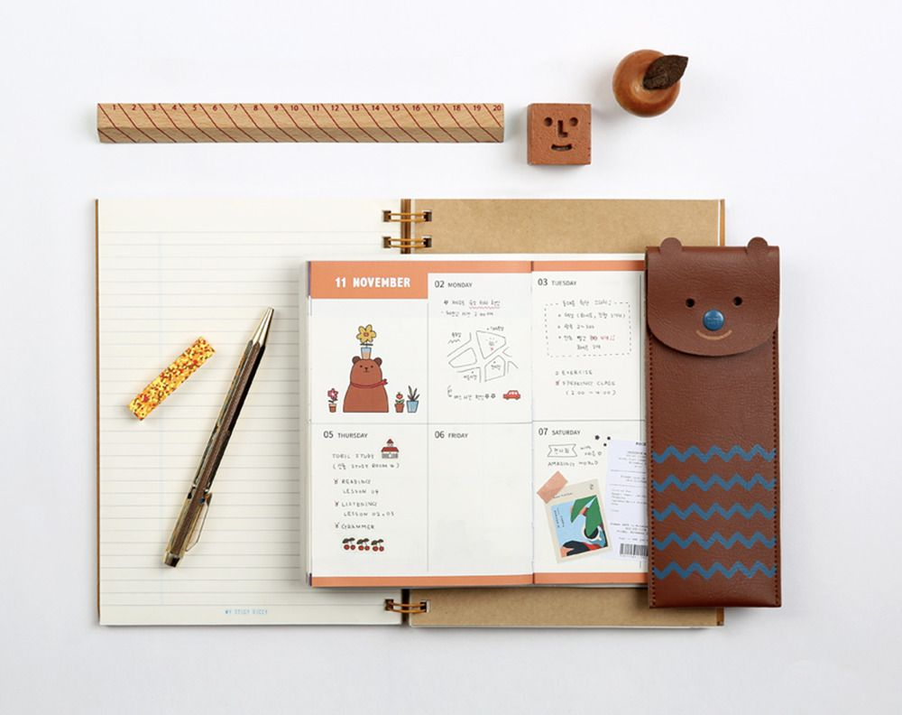 Toffeenut Attachable Leather Pen Case