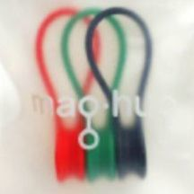 Magnetic Clipband, Red+Green+Black