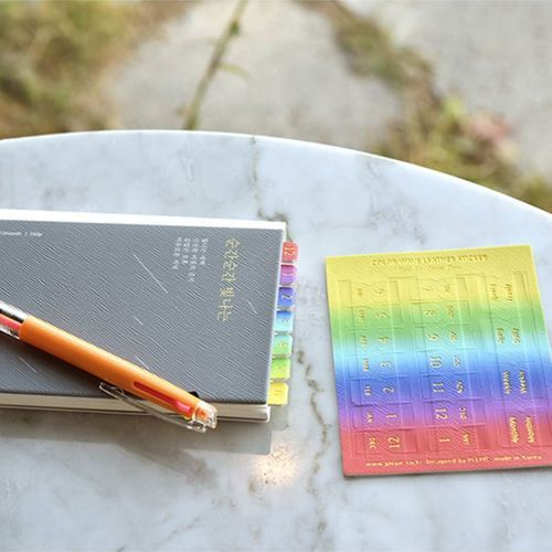 Color Wave Leather Index Sticker