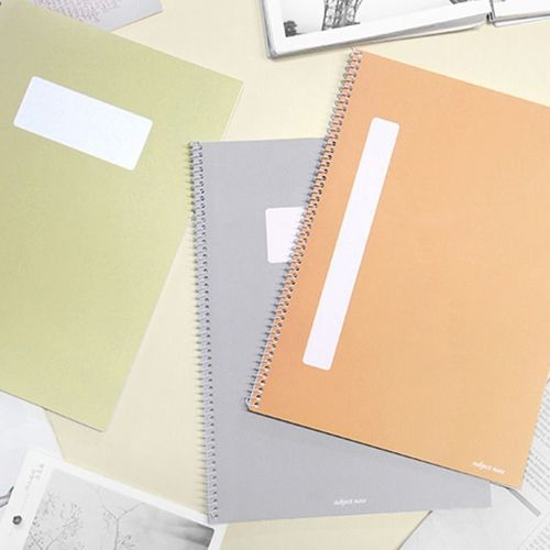 Pastel Spiral Lined Notebook Set of 4