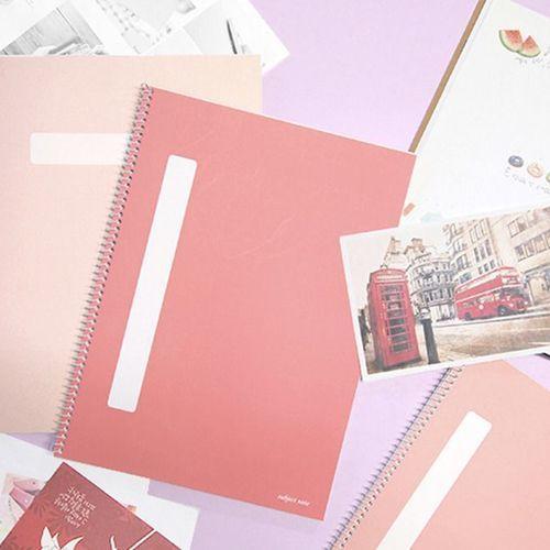Pastel Spiral Lined Notebook Set of 4