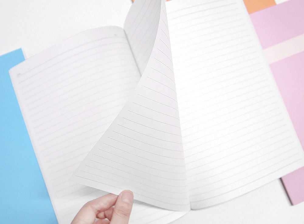 Pastel Simple Lined Notebook Set of 4