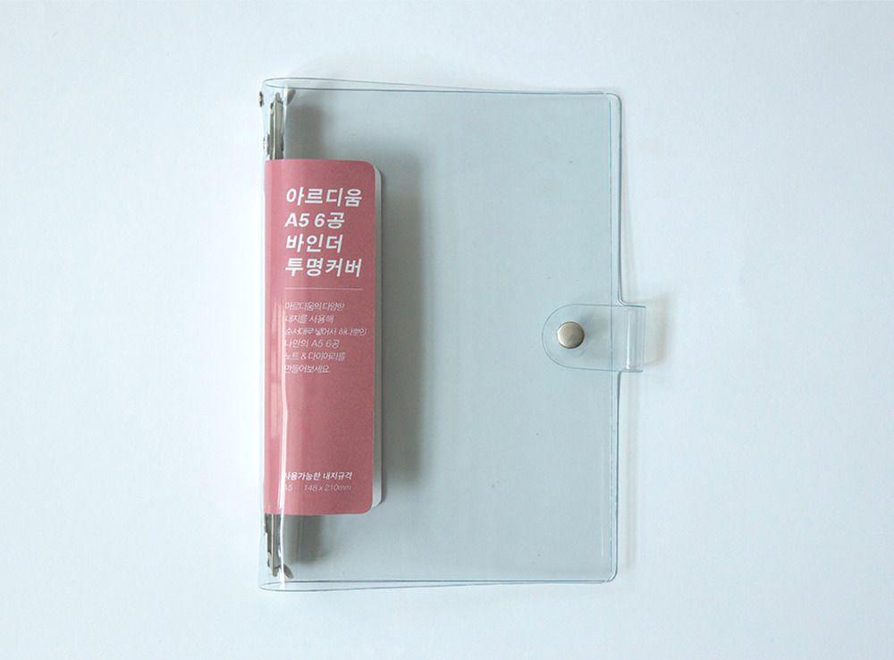 Transparent 6 Ring A5 PVC Binder