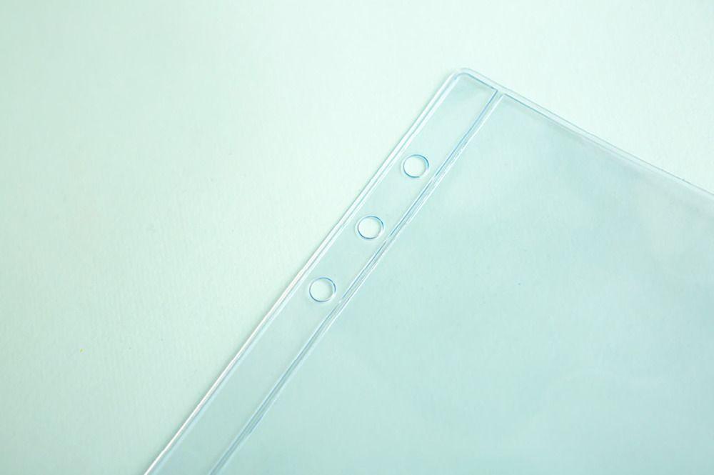Transparent 6 Ring A5 PVC Zipper Pocket