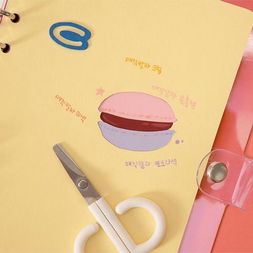 Colorful 6 Ring A5 Plain Note Refill