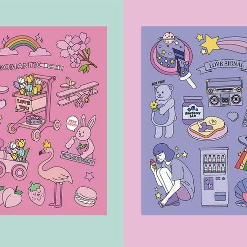 Color Point Deco Sticker v3