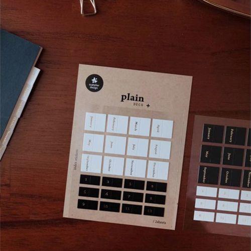 Black & White Index Sticker Set