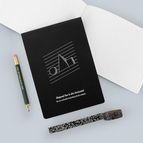 Diagonal Lined Notebook