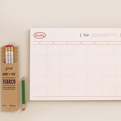Nacoo Monthly/Weekly Schedule Notepad