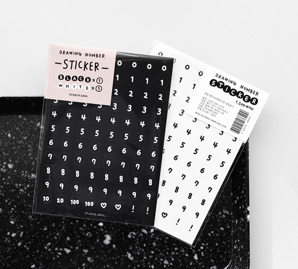 Drawing Number Sticker Set