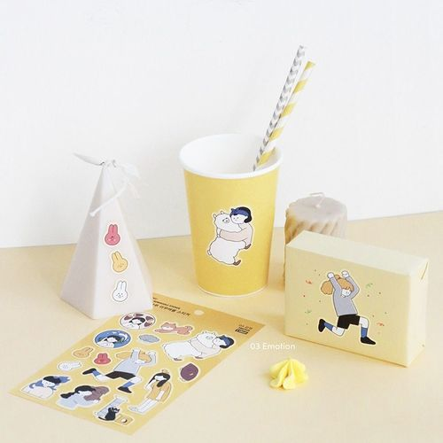 Girl's Daily Life Removable Sticker