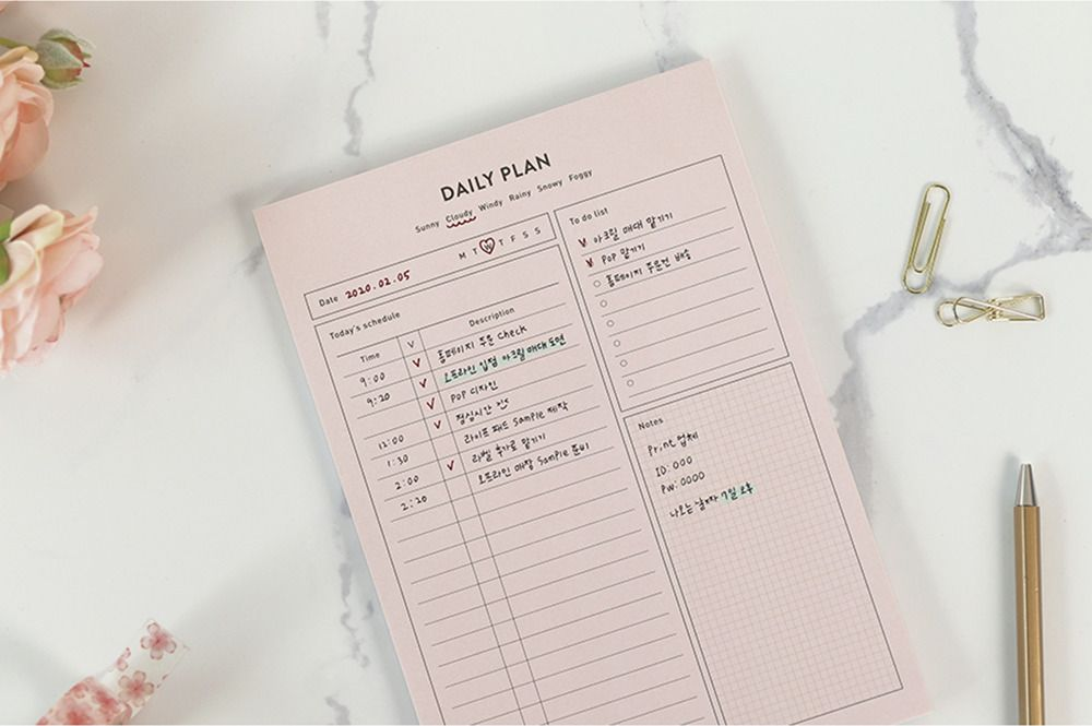Life A5 Schedule Notepad