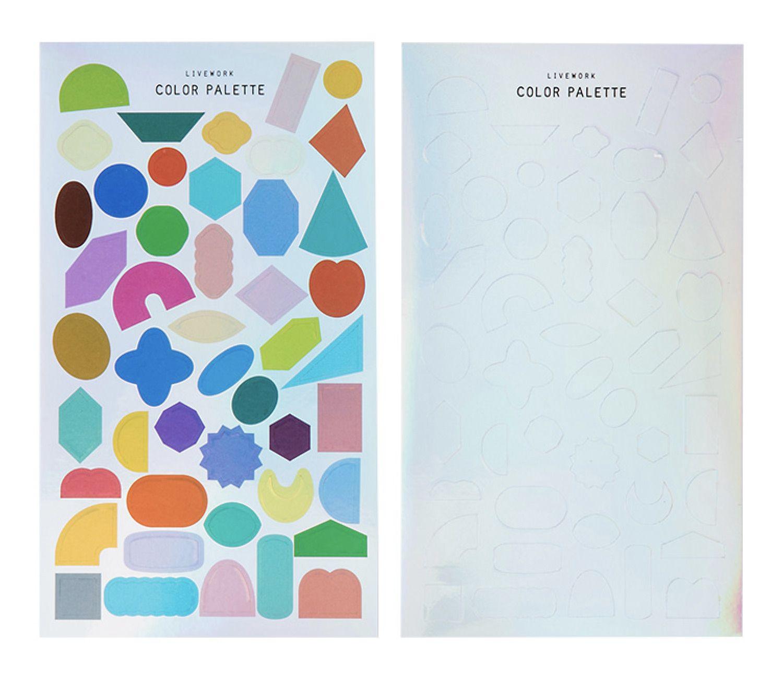 Color Palette Shape Deco Sticker
