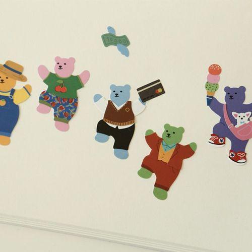 Jelly Bear Removable Sticker
