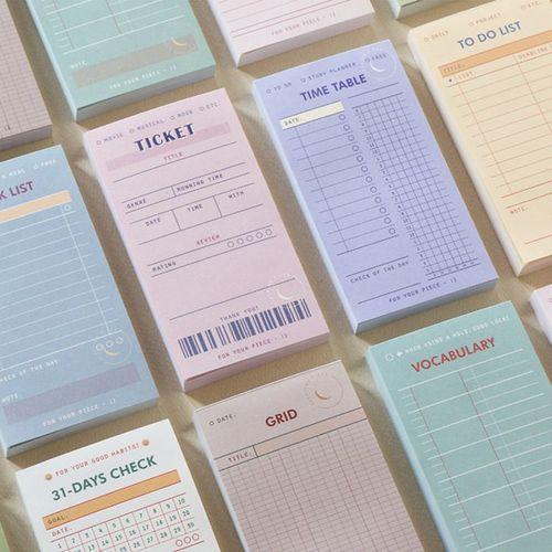 Sleeping Piece Planning Notepad