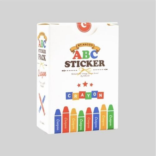 1152pcs Crayon Alphabet Sticker Set