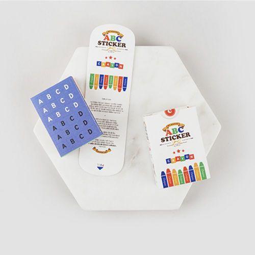 1152pcs Crayon Alphabet Sticker Set