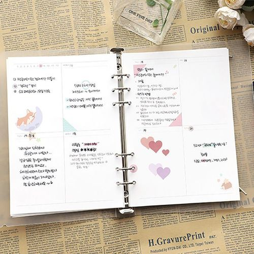 Baby Animal 6 Ring A5 Weekly Planner Refill