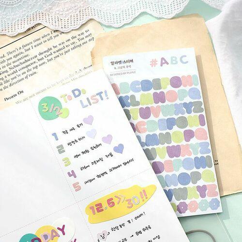 Planning Alphabet Deco Sticker