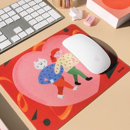 Cat Illustration Mouse Pad