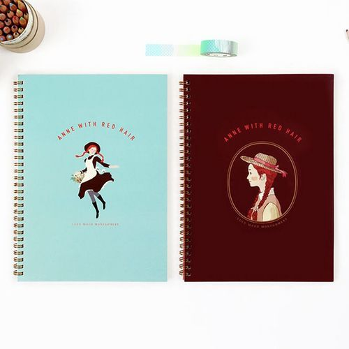 Anne with Red Hair Spiral Notebook
