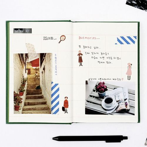 Large Anne Classic Hardcover Notebook