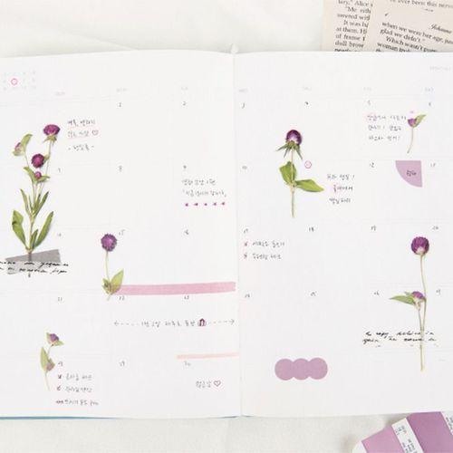 Globe Amaranth Pressed Flower Sticker