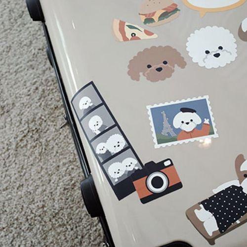 Puppy Travel Big Point Sticker Set