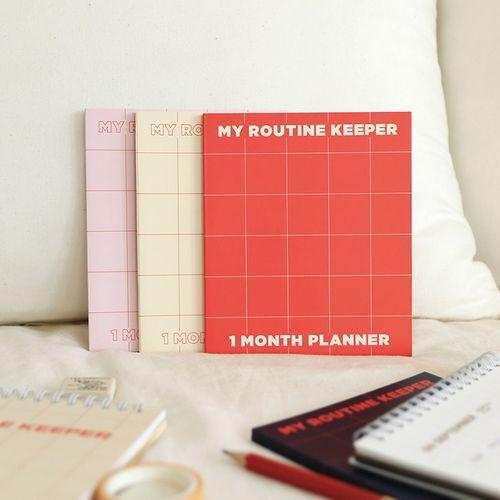My Routine Keeper 1 Month Planner