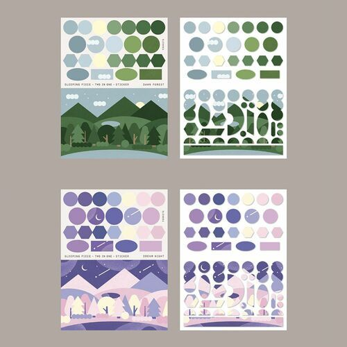 Sleeping Piece Deco Sticker