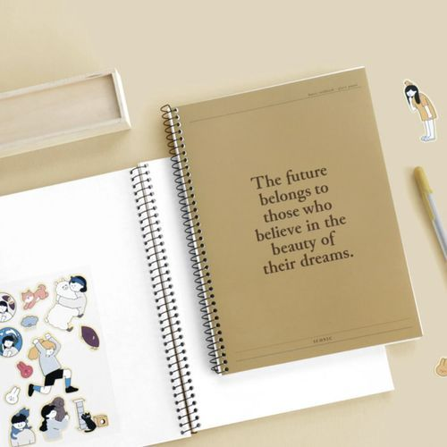 Pieces of Moment Plain Notebook