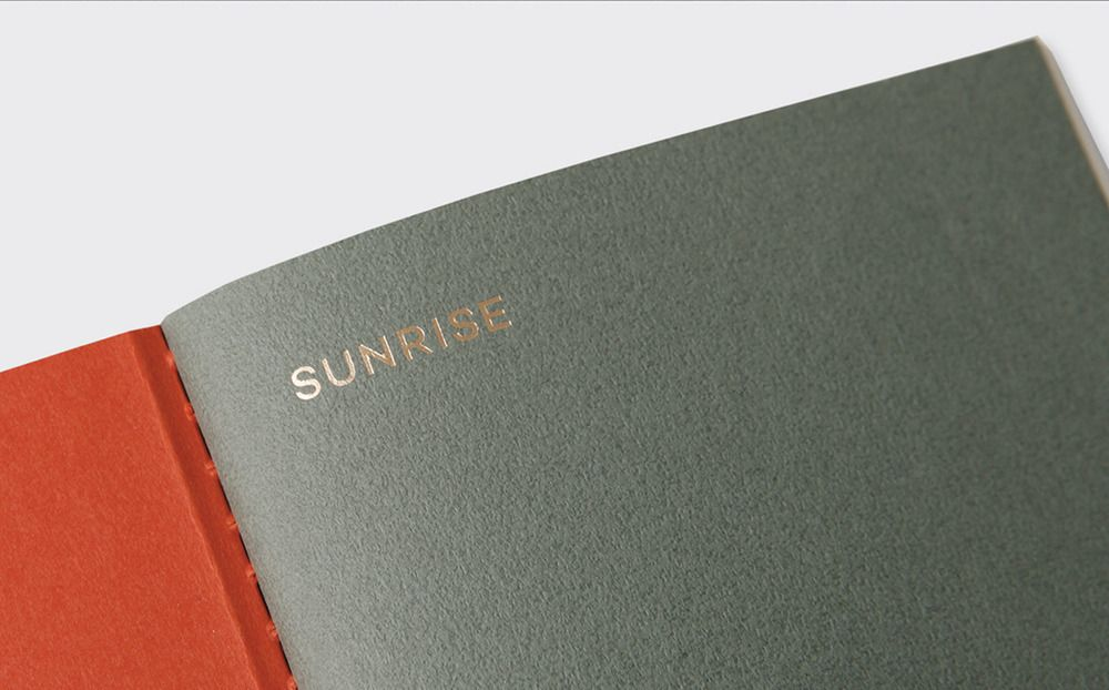Sunset Daily Log Notebook