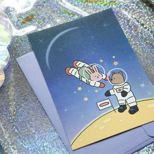 My Bunny Hologram Postcard