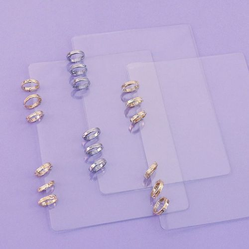 Silver 6 Ring A5 Transparent Cover