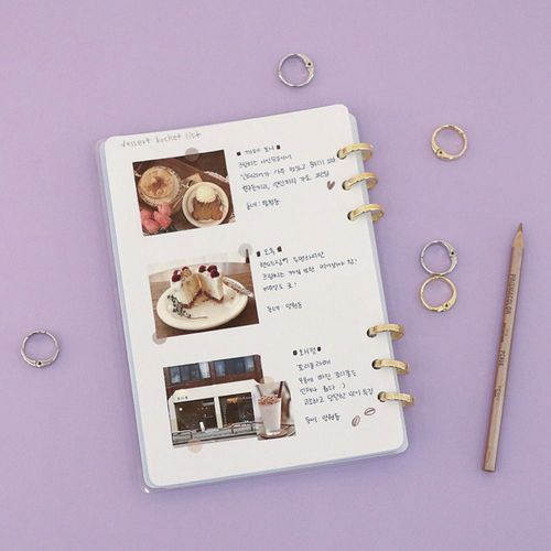 Gold 6 Ring A5 Transparent Cover