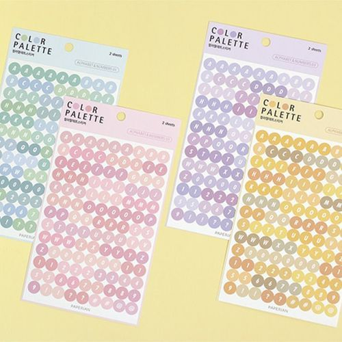 Alphabet Color Palette Sticker