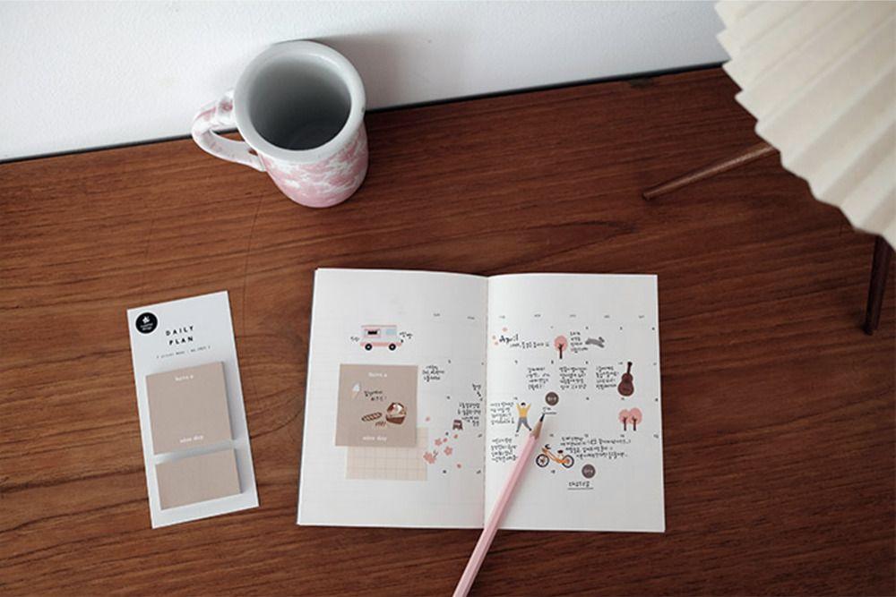 Warm Tone Daily Plan Sticky Note