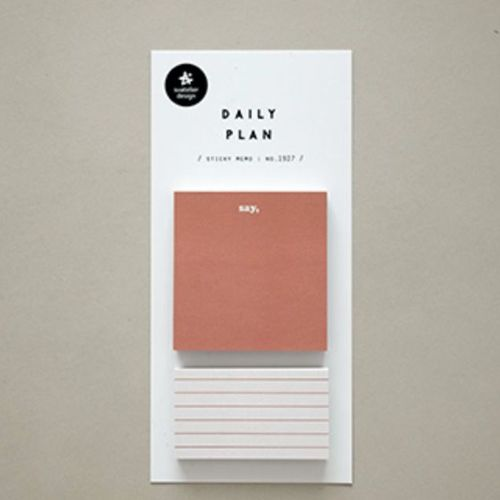 Warm Tone Daily Plan Sticky Note