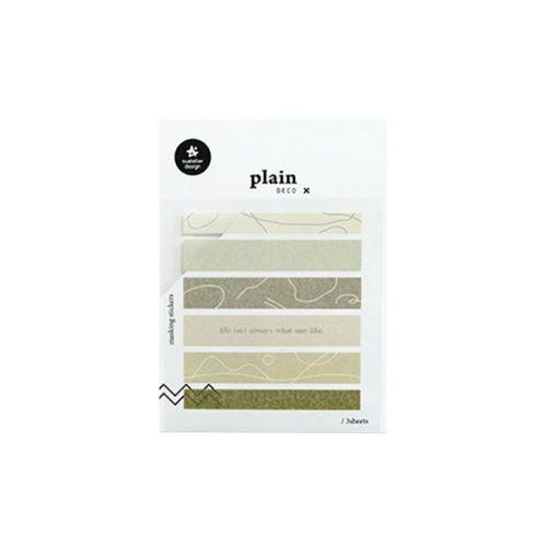 Plain Deco Sticker v47