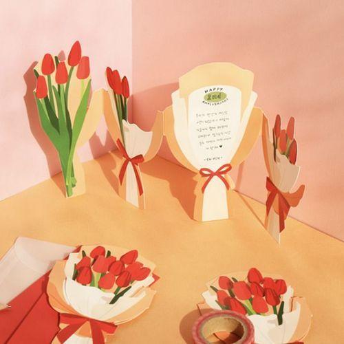 Flower Gift Envelope & Card