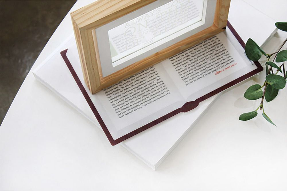World Literature Opened Book Mouse Pad