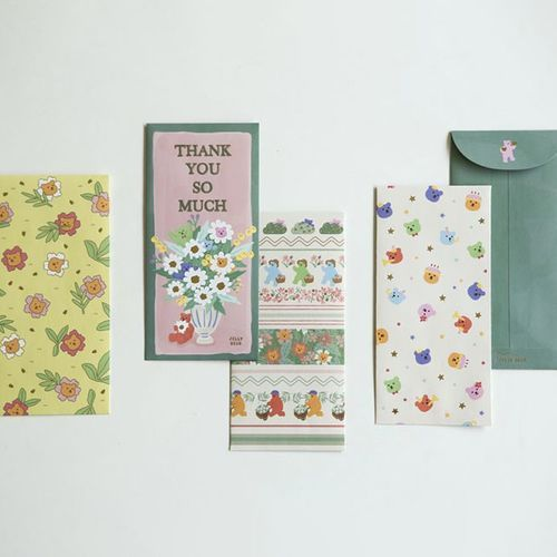 Jelly Bear Gift Envelope Set